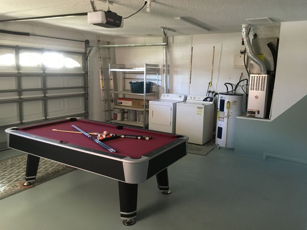 Game-room and washer-dryer